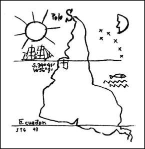 América invertida. Joaquín Torres García. (1943)