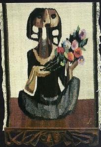 """""""Mujer con flores"""" Walter Solón Romero Gonzales"""